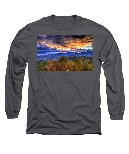 Sunset In The Smokies Long Sleeve T-Shirt