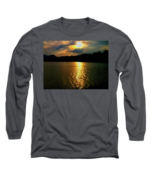 Long Sleeve T-Shirt featuring the digital art Sunset In The Smoky Mountains 1 by Chris Flees