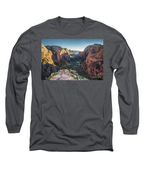 Sunset In Zion National Park Long Sleeve T-Shirt by JR Photography