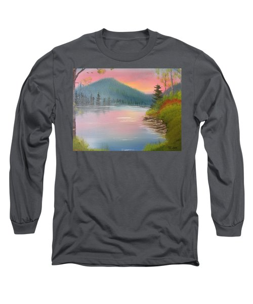 Sunset Lake Long Sleeve T-Shirt by Thomas Janos