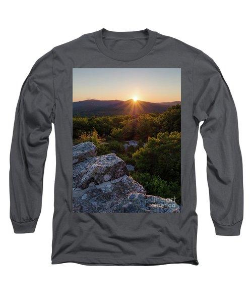 Long Sleeve T-Shirt featuring the photograph Sunset, Mt. Battie, Camden, Maine 33788-33791 by John Bald