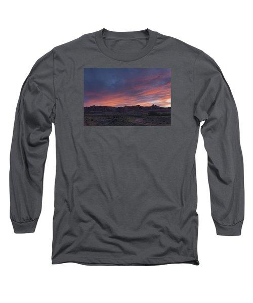 Sunset Near Court House Wash Long Sleeve T-Shirt