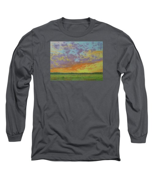 Sunset Near Miles City Long Sleeve T-Shirt