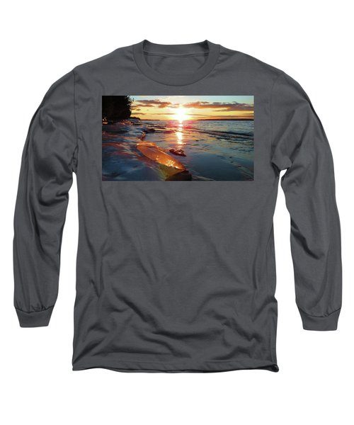 Sunset On Ice Long Sleeve T-Shirt