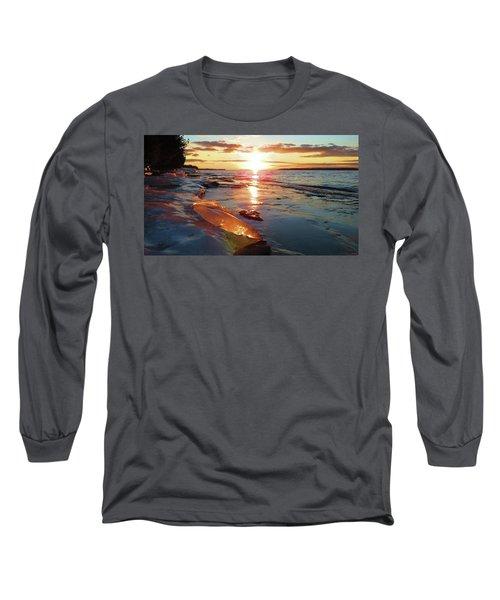 Sunset On Ice Long Sleeve T-Shirt