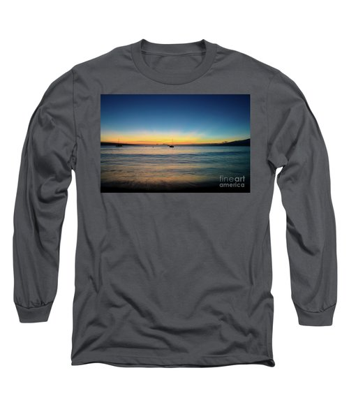 Long Sleeve T-Shirt featuring the photograph Sunset On Ka'anapali Beach by Kelly Wade