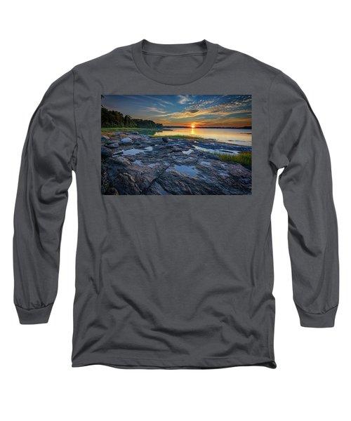 Sunset On Littlejohn Island Long Sleeve T-Shirt