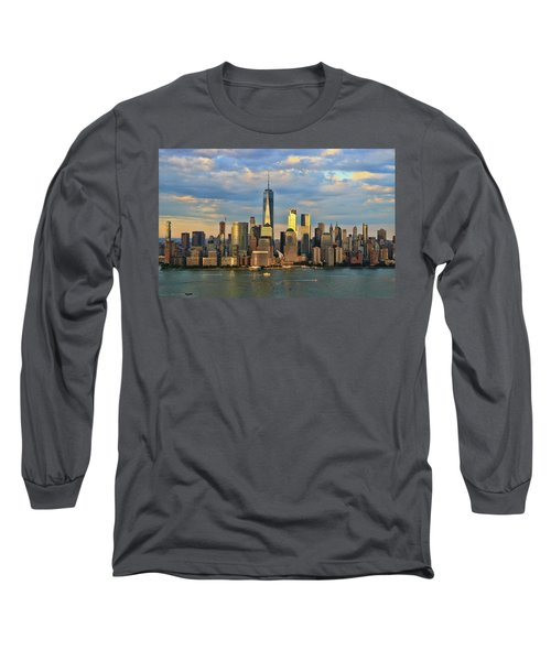 Sunset On Lower Manhattan Long Sleeve T-Shirt