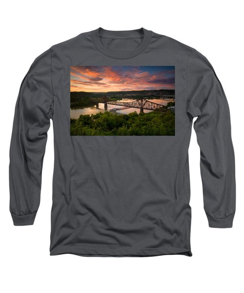 Sunset On Ohio River  Long Sleeve T-Shirt