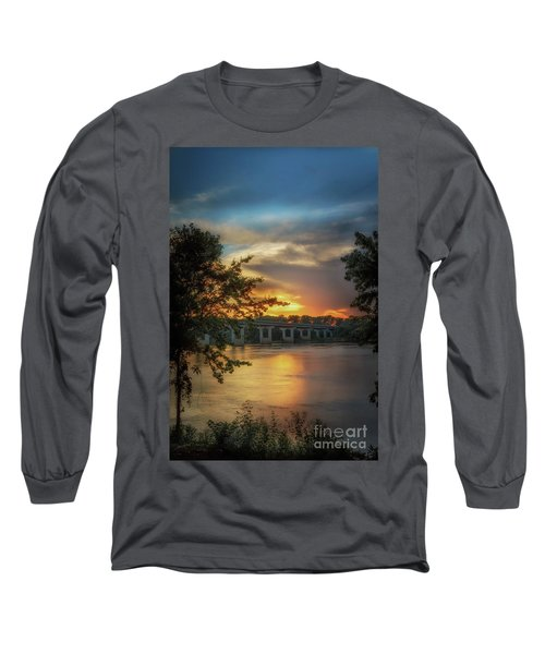 Sunset On The Arkansas Long Sleeve T-Shirt