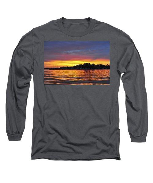 Sunset On The Bay Island Heights Nj Long Sleeve T-Shirt