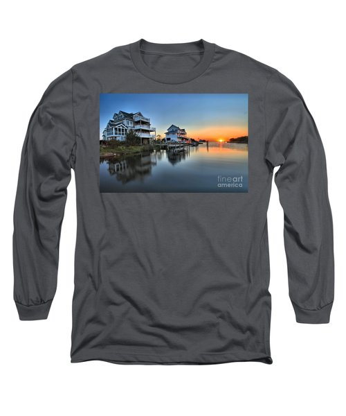 Sunset On The Obx Sound Long Sleeve T-Shirt