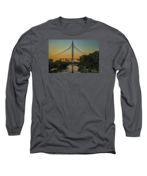 Sunset On The Trinity Long Sleeve T-Shirt by Diana Mary Sharpton
