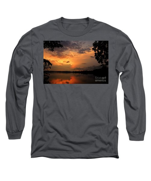 Long Sleeve T-Shirt featuring the photograph Sunset On Thomas Lake by Larry Ricker