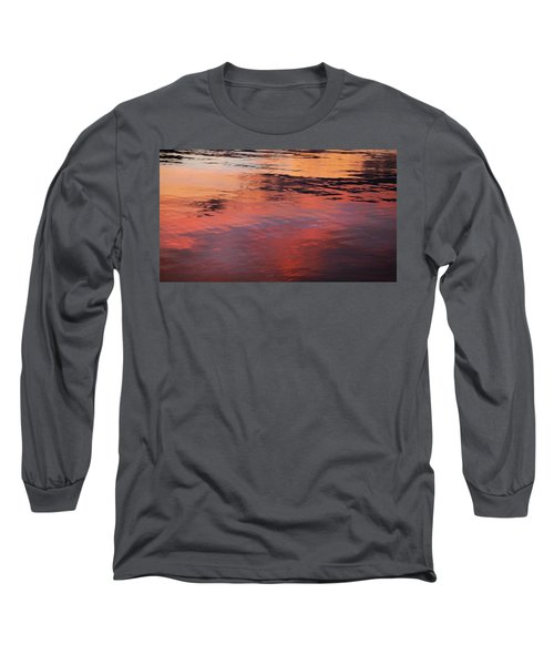 Long Sleeve T-Shirt featuring the photograph Sunset On Water by Theresa Tahara