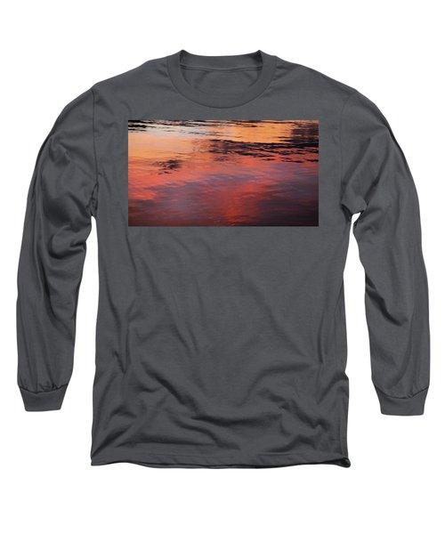Sunset On Water Long Sleeve T-Shirt