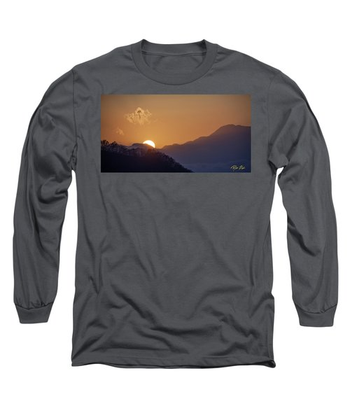 Long Sleeve T-Shirt featuring the photograph Sunset Over Asia  by Rikk Flohr