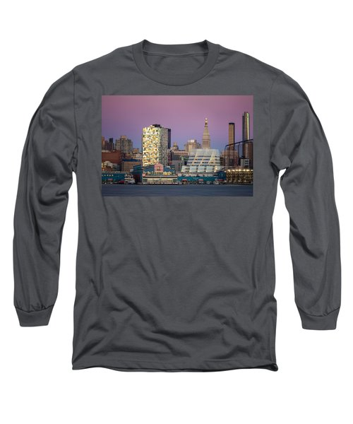 Sunset Over Chelsea Long Sleeve T-Shirt by Eduard Moldoveanu