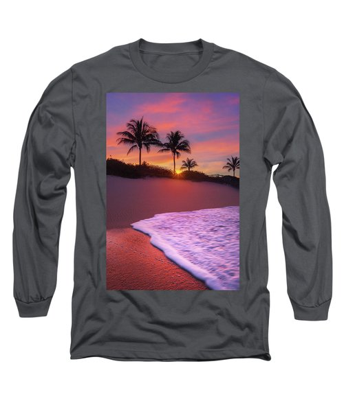 Long Sleeve T-Shirt featuring the photograph Sunset Over Coral Cove Park In Jupiter, Florida by Justin Kelefas