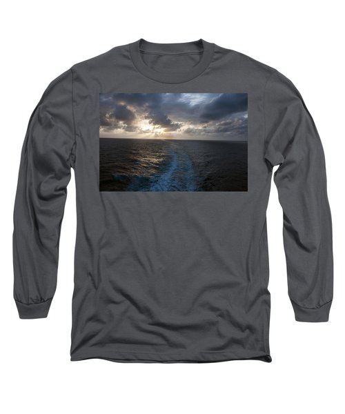 Long Sleeve T-Shirt featuring the photograph Sunset Over Fort Lauderdale by Allen Carroll