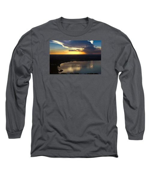 Long Sleeve T-Shirt featuring the photograph Sunset Over Lake by Carolyn Marshall