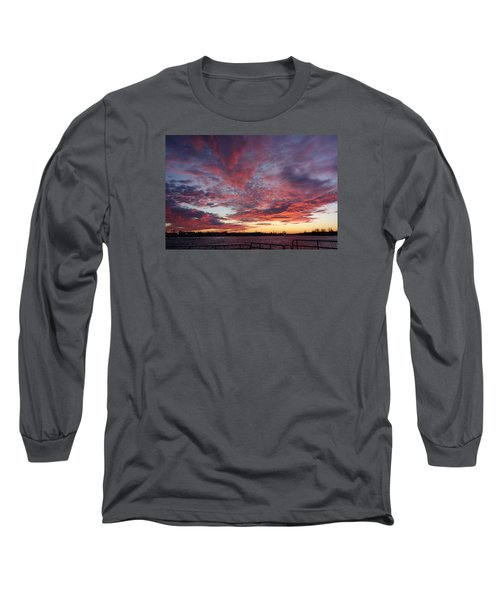 Manasquan Inlet Sunset    Long Sleeve T-Shirt by Melinda Saminski