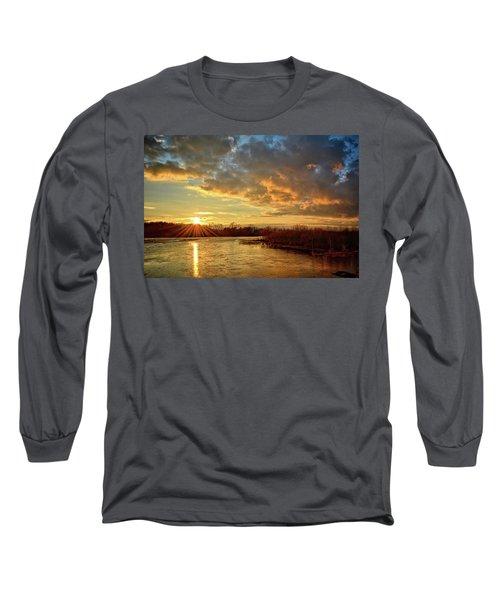 Sunset Over Marsh Long Sleeve T-Shirt