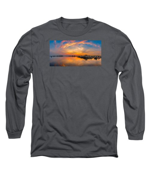 Sunset Over Shrewsbury Bay Long Sleeve T-Shirt