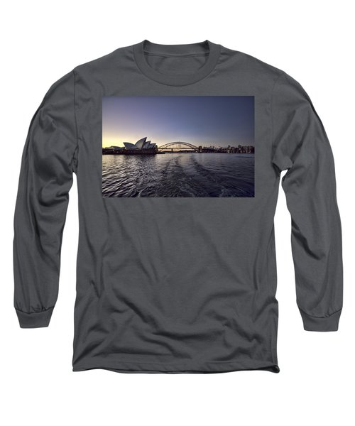Sunset Over Sydney Harbor Bridge And Sydney Opera House Long Sleeve T-Shirt