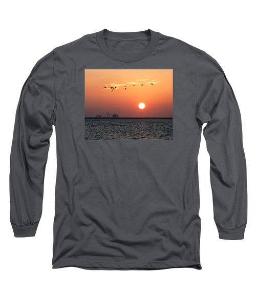 Sunset Over The Bay Long Sleeve T-Shirt