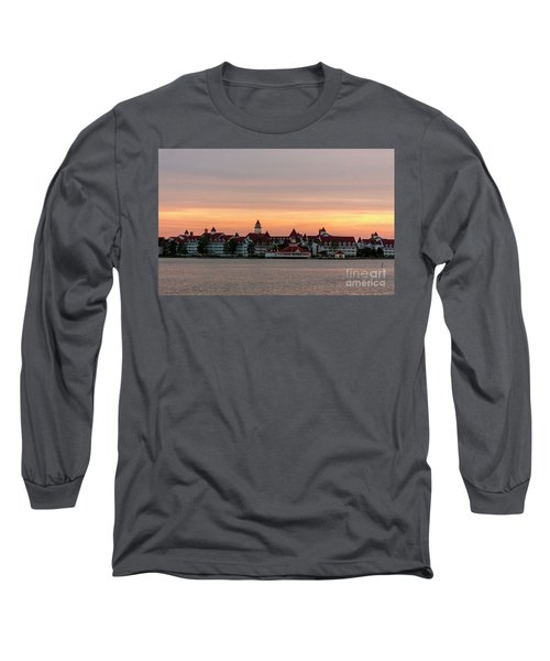 Sunset Over The Grand Floridian Long Sleeve T-Shirt