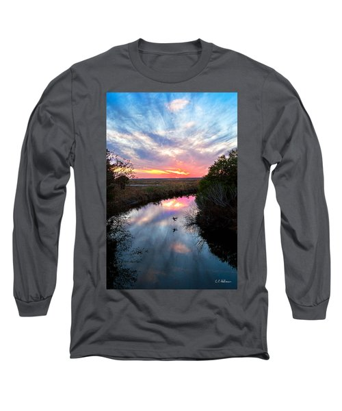 Sunset Over The Marsh Long Sleeve T-Shirt