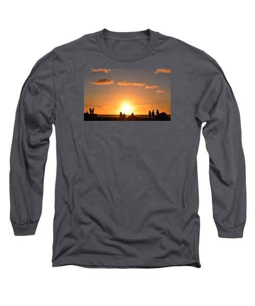 Sunset People In Imperial Beach Long Sleeve T-Shirt