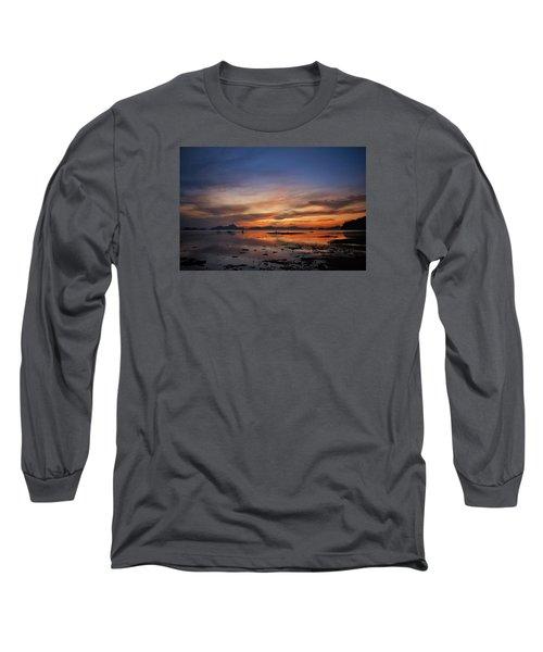 Sunset Pi Long Sleeve T-Shirt by John Swartz