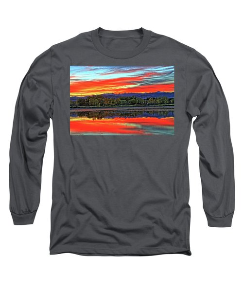 Long Sleeve T-Shirt featuring the photograph Sunset Ponds by Scott Mahon