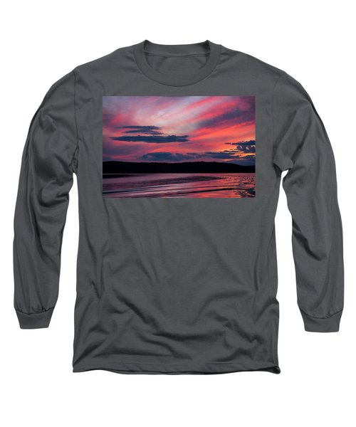 Sunset Red Lake Long Sleeve T-Shirt