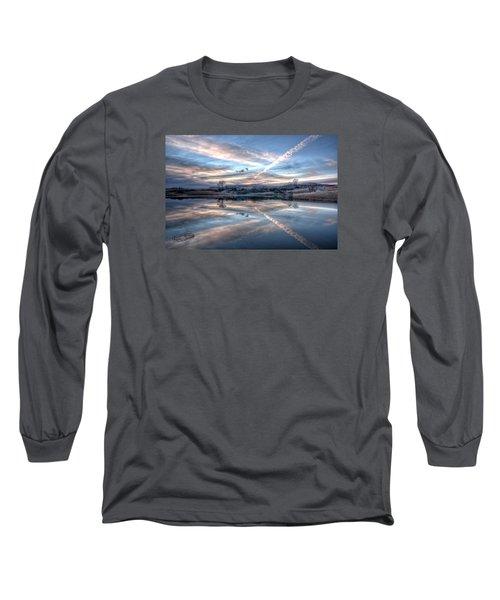Sunset Reflection Long Sleeve T-Shirt by Fiskr Larsen