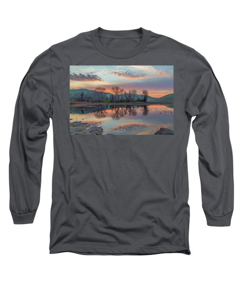 Sunset Reflection Long Sleeve T-Shirt by Marc Crumpler