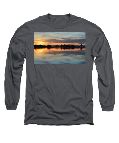 Sunset Reflections Long Sleeve T-Shirt by AJ Schibig