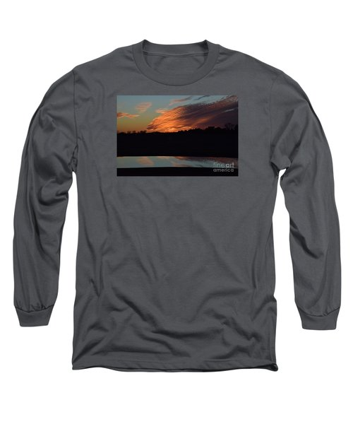 Sunset Reflections Long Sleeve T-Shirt by Mark McReynolds
