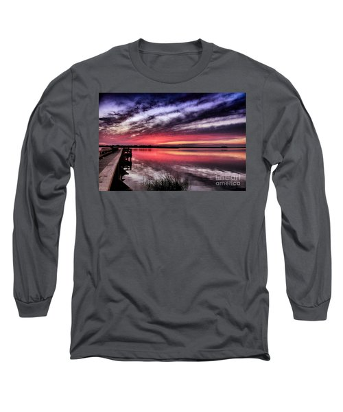 Long Sleeve T-Shirt featuring the photograph Sunset Reflections by Phil Mancuso