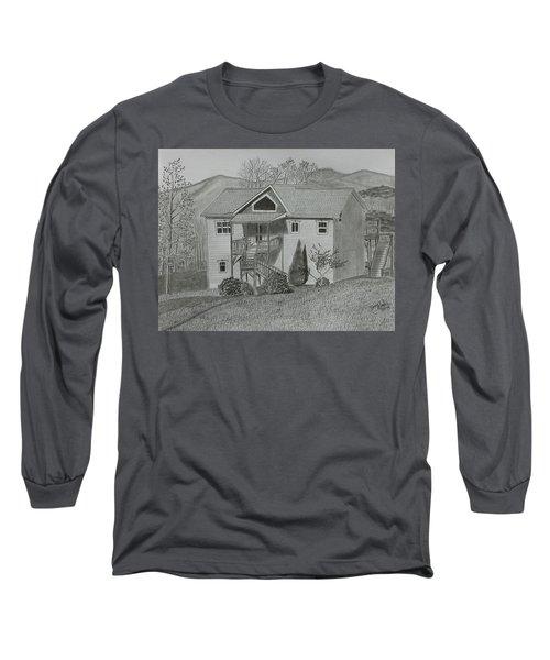 Sunset  Ridge  Long Sleeve T-Shirt by Tony Clark