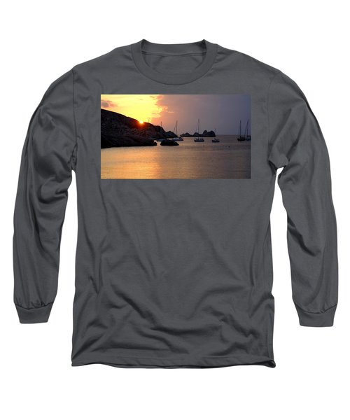 Sunset Sailing Boats Long Sleeve T-Shirt