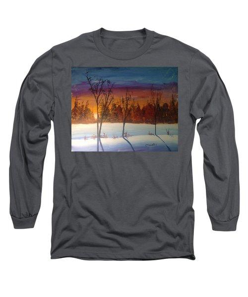 Sunset Snow Long Sleeve T-Shirt