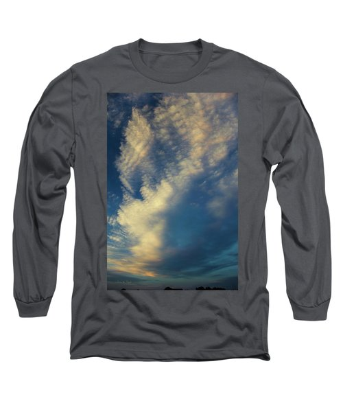 Long Sleeve T-Shirt featuring the photograph Sunset Stack by Karen Slagle