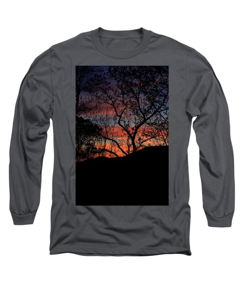 Sunset Long Sleeve T-Shirt by Tammy Schneider
