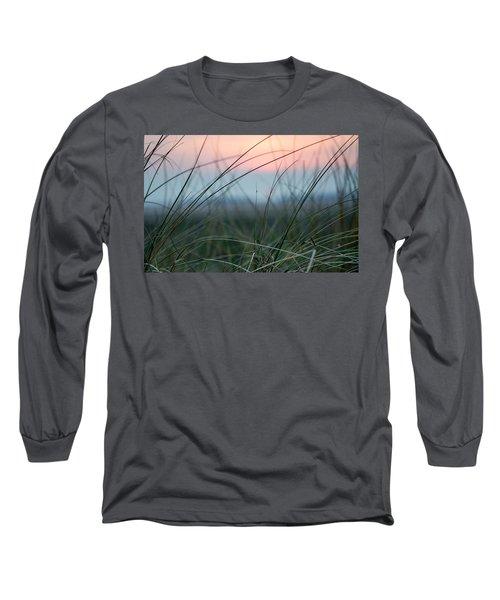Sunset  Through The Marsh Grass Long Sleeve T-Shirt