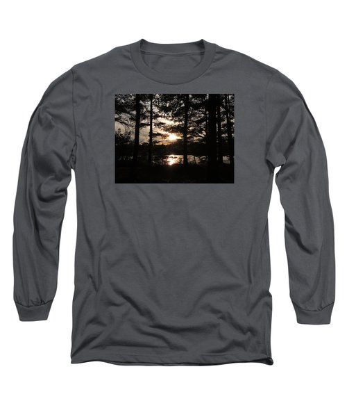 Sunset Through The Pines Long Sleeve T-Shirt by Teresa Schomig