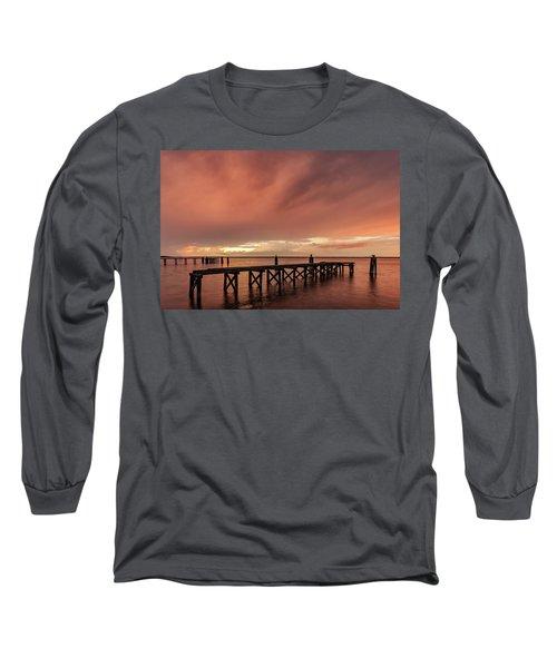 Sunset Thru Storm Clouds Long Sleeve T-Shirt