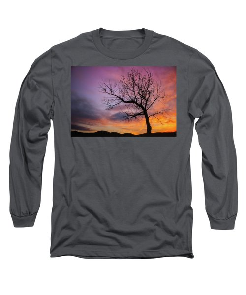 Long Sleeve T-Shirt featuring the photograph Sunset Tree by Darren White